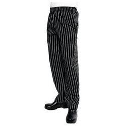 Spodnie w biało-czarne paski | rozmiary XS-XXL