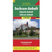 Niemcy część 10 Saksonia-Anhalt mapa 1:200 000 Freytag & Berndt (opr. twarda)
