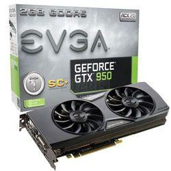 Karta graficzna EVGA GeForce® GTX 950 Superclocked+ ACX 2.0, 2GB GDDR5 (128 Bit), HDMI, DVI, 3xDP - 02G-P4-2956-KR