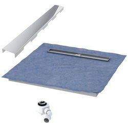 Schedpol podposadzkowa płyta prysznicowa 90x100 cm steel długi bok 10.010OLDBSL