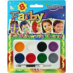 Farby do malowania twarzy 8 kolorów