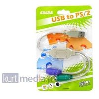 Kabel USB 4World Adapter 2 porty PS2 (klawiatura i mysz) na port USB (01421)