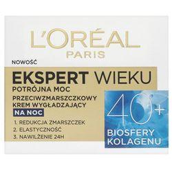 Loreal Paris Expert Wieku 40+ Przeciwzmarszczkowy wygładzający krem do twarzy na noc 50 ml
