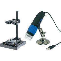 Zestaw Mikroskop cyfrowy USB 9,0 Mio Pixel + uchwyt stojący Conrad DP-M17 9 MPx USB Powiększenie 10 do 200 x