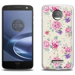 Fantastic Case - Lenovo Moto Z Force - etui na telefon Fantastic Case - pastelowe różyczki