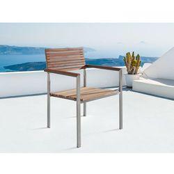 Krzeslo ogrodowe - stal nierdzewna - drewno tekowe - VIAREGGIO