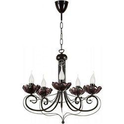 ROSA 5 zwis - żyrandol czarny / lampa wisząca