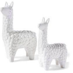 Figurki Dekoracyjne Lamy 2 Szt Bonprix Biały