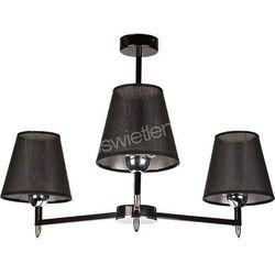 MONTE 3 zwis czarny - żyrandol/lampa wisząca