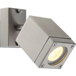 Zewnętrzna LAMPA ścienna DALYOR 34151 Globo ruchoma OPRAWA elewacyjna LED IP44 outdoor prostokątna srebrny