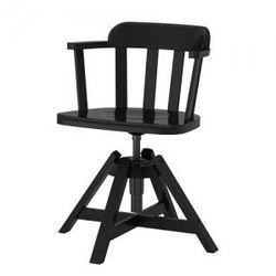 FEODOR Krzesło obrotowe z podłokietnikami, czarny