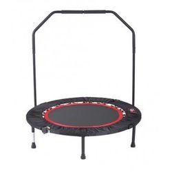 Fitness trampolina z uchwytem, poręczą.