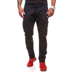 Czarne spodnie bojówki męskie Denley 8380 - CZARNY Spodnie 59.99 (-14%)