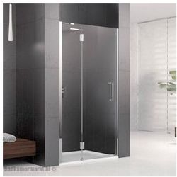 NOVELLINI LOUVRE G Drzwi wnękowe 90 lewe, profile chrom, szkło transparentne LOUVRG90LS-1K