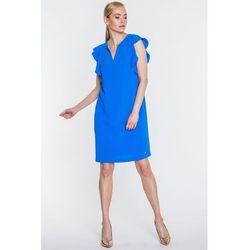 166c6a6f3b2682 suknie sukienki niebieska suknia wieczorowa zdobiona aplikacjami z ...