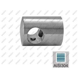 Uchwyt przelotowy AISI304, d16/40x40x2/L34mm