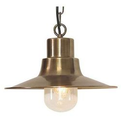 Zewnętrzna LAMPA wisząca SHELDON CH BR Elstead ZWIS metalowy OPRAWA ogrodowa IP44 outdoor mosiądz