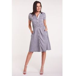 fae050629b suknie sukienki vissavi sukienka wisla b294 szara (od Sukienka ...