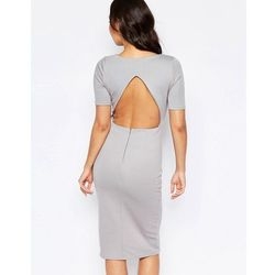 Twin Sister Open Back Cut Out Dress - Grey