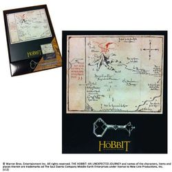 Klucz i Mapa Thorina z filmu Hobbit Noble Collection (NN1243)