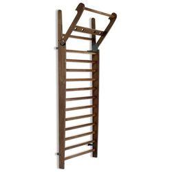 Drabinka gimnastyczna NOHrD (drewno orzechowe) Drewno orzechowe, 10 szczebli