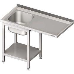 Stół ze zlewem jednokomorowym i miejscem na urządzenie STALGAST 1800x600x900 lewy