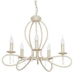 Żyrandol LAMPA wisząca FRESCO 4562 Nowodvorski świecznikowy ZWIS metalowy z kryształkami maria teresa ecru