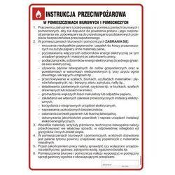 Instrukcja przeciwpożarowa w pomieszczeniach biurowych i pomocniczych