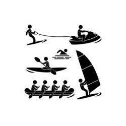 Foto naklejka samoprzylepna 100 x 100 cm - Woda morska Sport skurfing wioślarstwo windsurfingu rafting