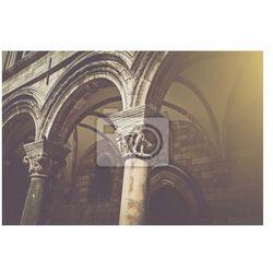 Fototapeta Gotyckie kamienne filary w stylu retro Filmowym