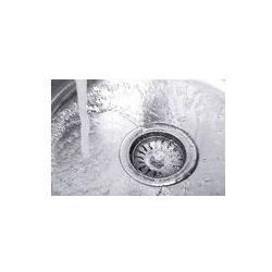 Foto naklejka samoprzylepna 100 x 100 cm - Wody spływające dziurę w zlewie kuchennym