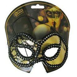 Maska z koronką złota