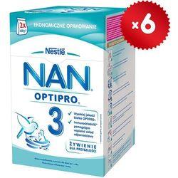 Zestaw 6x NESTLE NAN OPTIPRO 3 800g (2x400g) Mleko następne z B.Lactis