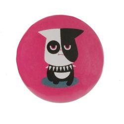 plakietka Love Music Plakietka 25 mm - Pes Zboczeniec Różowy