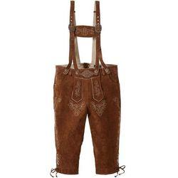 Spodnie skórzane bonprix brązowy