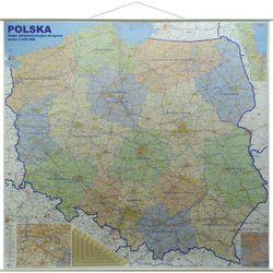 Polska mapa ścienna administracyjno-drogowa 1:350 000
