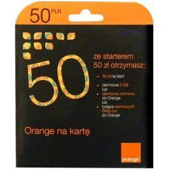 Starter ORANGE Orange na kartę 50