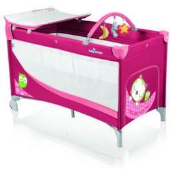 Baby Design, Łóżeczko turystyczne Simple New, Raspberry 2016 Darmowa dostawa do sklepów SMYK