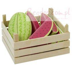 Owoce w skrzynce, arbuzy, 12 elementów.
