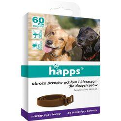 Obroża przeciw pchłom i kleszczom dla dużych psów Happs