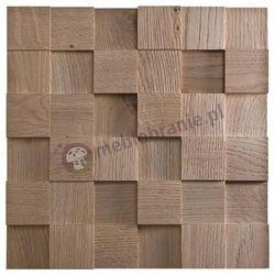 Panele drewniane Dąb Patynowany Kostka 3D *009 - Natural Wood Panels
