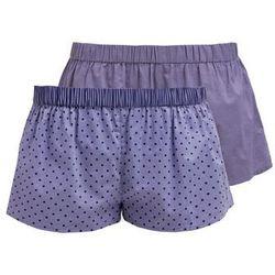 Zalando Essentials 2 PACK Spodnie od piżamy graphite/blue