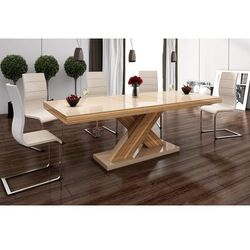 Stół Xenon wysoki połysk - cappuccino-sevilla-cappuccino