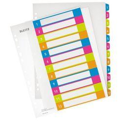 Przekładki numeryczne Leitz Wow A4/1-12 do nadruku 1244