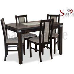 Zestaw AMUR IV 4 krzesła i stół 80x120/150