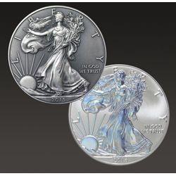 Zestaw monet uszlachetnianych - Amerykański Orzeł 1 uncja srebra
