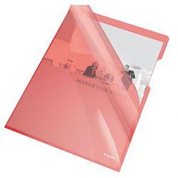 Ofertówka krystaliczna L Esselte 55433 A4/25szt.,150mic. czerwona