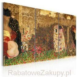 Obraz - Gustav Klimt - inspiracja, tryptyk