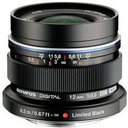 Kasa wraca OLYMPUS M. 12 mm F2 czarny obiektyw mocowanie Micro 4/3