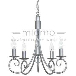 Żyrandol LAMPA wisząca SILVERADO 5417 Nowodvorski świecznikowy ZWIS metalowy maria teresa srebrny